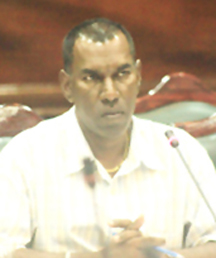 Region Two REO Sunil Singh during Monday's PAC hearing
