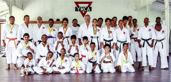 The YMCA Karate Mashramani winners and other participants.