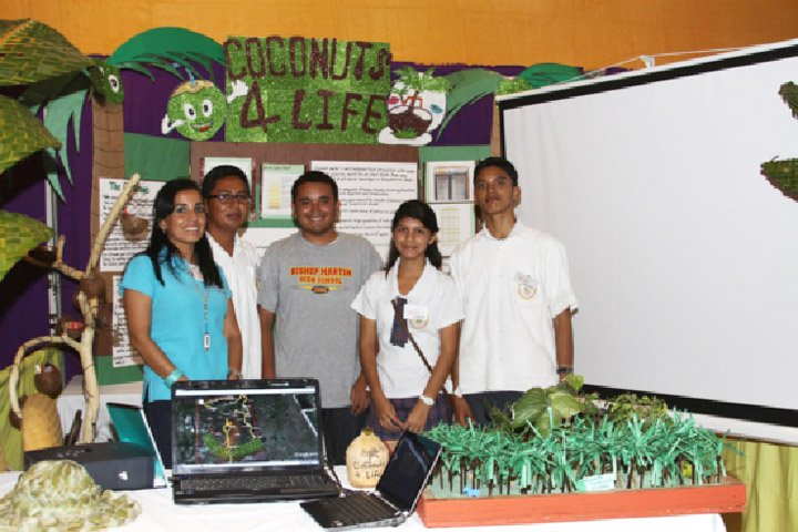 "Bishop Martin High in Belize, ""Coconuts4Life""."