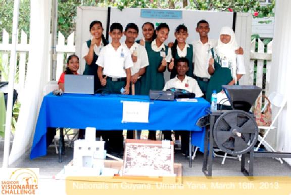 Nationals in Guyana's Umana Yana, March 16th 2013