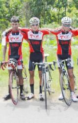 Star Trio! Team Coco's Club mates Raynauth Jeffrey, Paul DeNobrega and Raul Leal. (Orlando Charles photo)