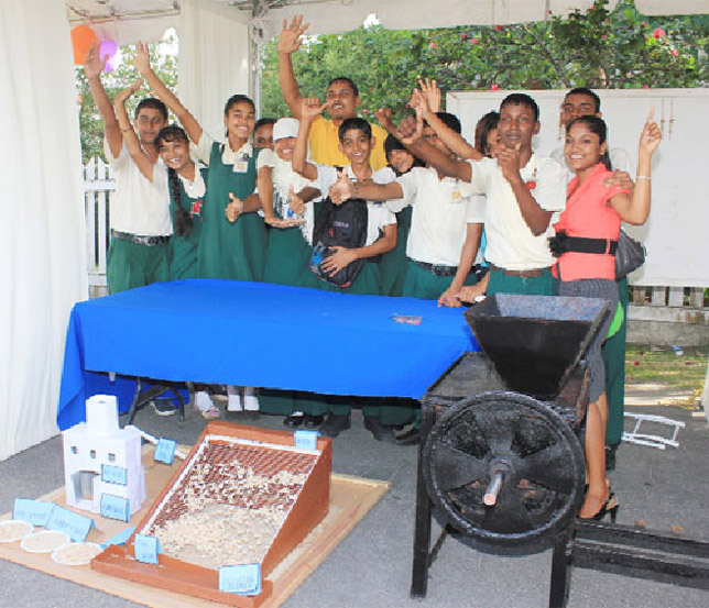The Zeeburg inventors and their drying machine (Stabroek News file photo)