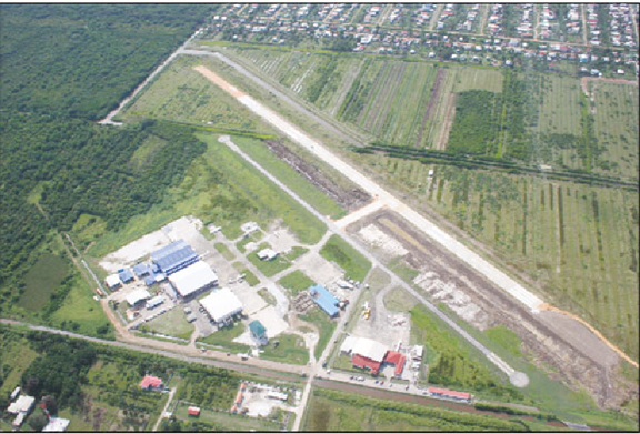 Aerial view of Ogle International Airport