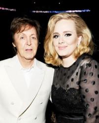 Paul McCartney and Adele