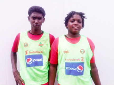 St. George's goal scorers, Adolph George and Ozeal Small.