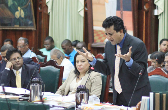 Let's send a strong signal - PPP/C MP Anil Nandlall says (Photo by Arian Browne)