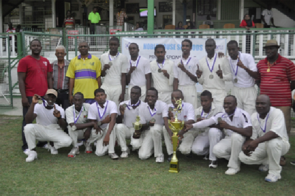 CHAMPS! Police Sports Club poses with the silverware