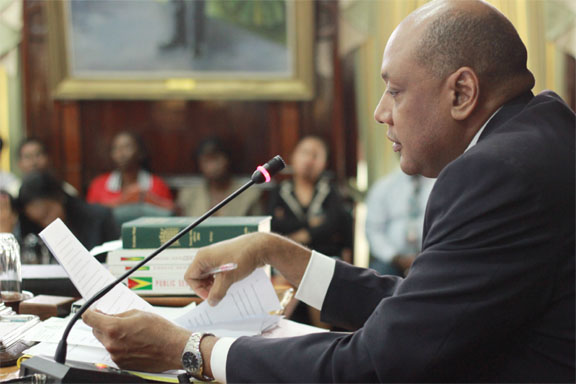 Speaker Raphael Trotman delivering his ruling yesterday