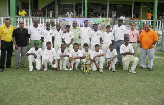 The victorius Demerara U15 team.