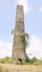 An old chimney near the Leonora Sugar estate