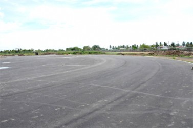 The completed asphalt on the track at the Leonora's facility.