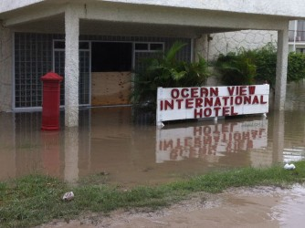 Ocean Views Hotel under several inches of water for the second time in less than two months
