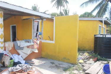 A wall that was broken after the high tides toppled over the Uitvlugt seawalls