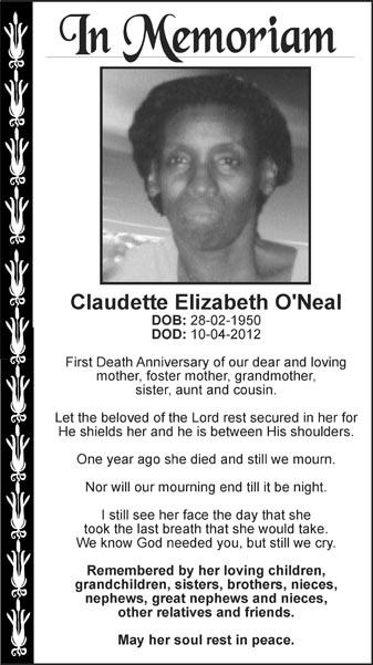 Claudette O'Neal