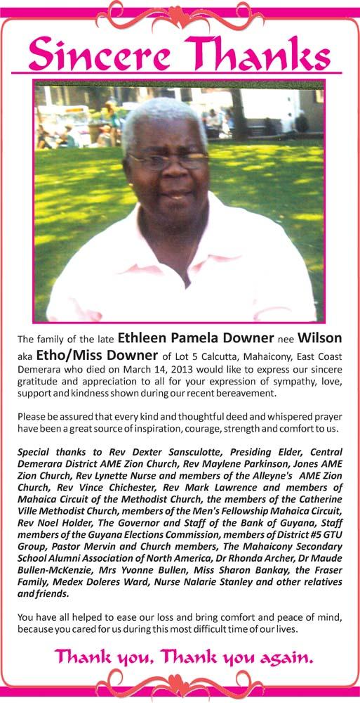 Ethleen Downer nee Wilson aka Etho / Miss DOwner