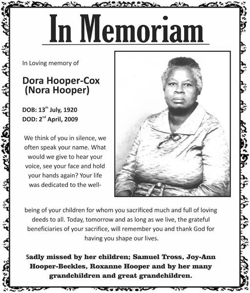 Dora Hooper-Cox (Nora Hooper)