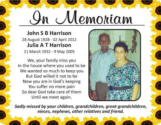 John & Julia Harrison