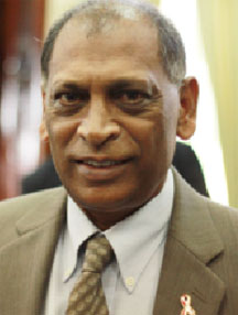 Guyana's Agriculture Minister  Dr Leslie Ramsammy