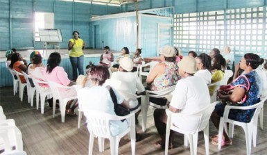 Women attending one of the many counselling sessions.