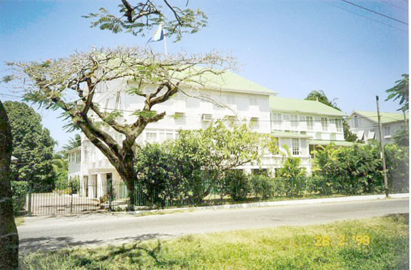 Colgrain House seen here with the Caricom Flag flying on its roof at a time when it still served as the residence of the Caricom Secretaries-General.  (SN file photo)