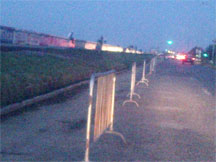 Barriers prevented persons from parking along the traditional 'limin' spot along the seawall last evening