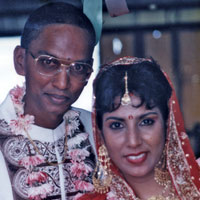 Denise Annamunthodo and Viren Annamunthodo on their wedding day on August 30, 1998. Viren was murdered in November 2012. (Trinidad Express photo)