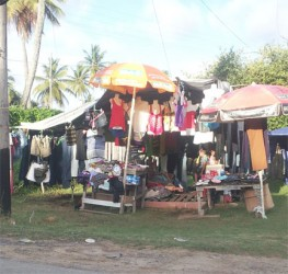 One of the small shops in Lusignan main road