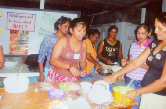 Some women participate in one of WAD's many empowering initiatives