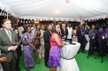 Part of the gathering at the celebration of the birthday of Queen Elizabeth (GINA photo)