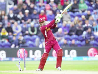 West Indies lost their way after Marlon Samuels lost his wicket. (Photo cricket 365)