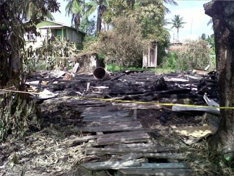The remains of the home where Susanne Sylvia McNeil lived.