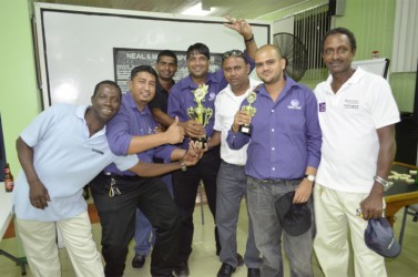 The victorious DSCL dominoes team.
