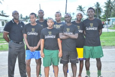 Team Guyana from left to right Guinness Brand Manager Lee Baptiste, Vincent Thomas, Devon Harris, Andy Duke, Seon McKenzie, Phillip Rowley, Daniel Favourite and Wayne Wilson, missing from photo is Wayne 'Harry' Griffith.