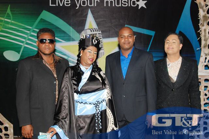 The judges: From left: Sean Bhola, Charmaine Blackman, Gordon Moseley and Joel Ghansham