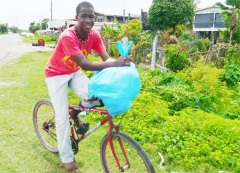 A youth doing an errand