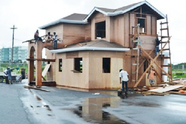 One of the model houses that will be on show at Building Expo 2013 (Government Information Agency photo)