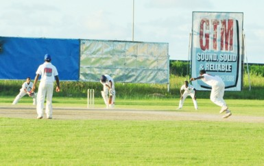 Action between Demerara and President's XI at Everest.