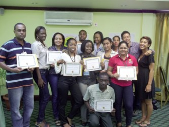Photo shows some of the freshly trained peer educators.