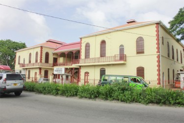 The Georgetown Magistrates' Court building at the corners of Brickdam and Avenue of the Republic has been undergoing repairs for two years.