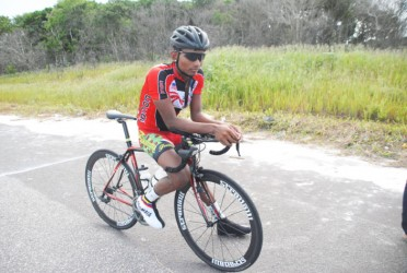 New National Senior Time Trial champion, Raynauth Jeffrey.