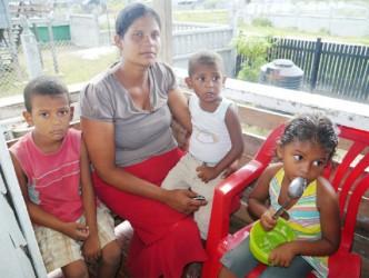 Renita Sampuran and three of her four children