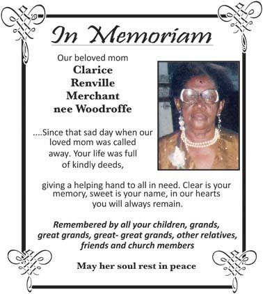 Clarice Merchant nee Woodroffe
