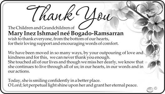 Mary Ishmael nee Bogado-Ramsarran