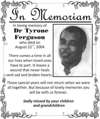 Dr Tyrone Ferguson