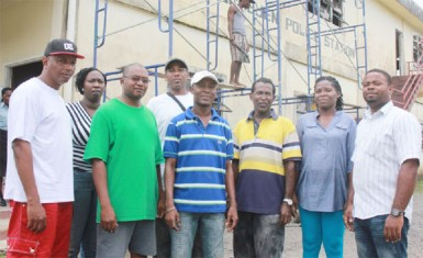 Members of the Station Management Committee from left to right- Committee member Vaughn Corlette, Assistant Secretary Yota Burgess, Committee member Alaric Edwards, Vice chairman Aubrey Williams, Chairman Warren King, Committee member Edward Singh, Secretary Maxine Williams and committee member Richard Vaughn.