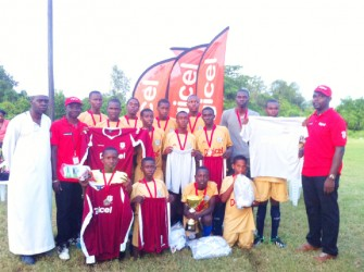 Ash Education Institute after winning the Region Five finals yesterday afternoon in West Berbice.