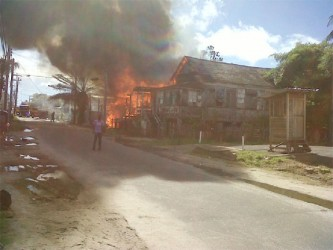 Vanessa Collymore's home and that of her sister's on fire