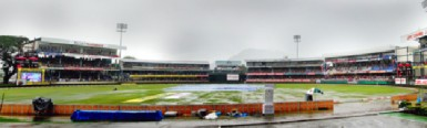 The wet Queens Park Oval told the story