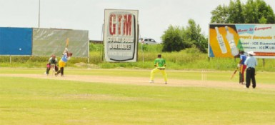 Leon Johnson during his innings of 71 at the Everest ground yesterday.