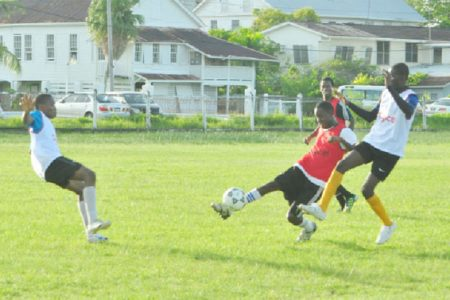 Action between GITC in white and Dolphin Secondary in red